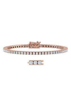 2 3/4 Carat to 3 Carat Diamond Tennis Bracelet in 10K Gold (5.5 Inch to 7.5 Inch)
