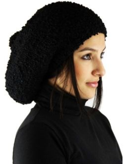 MADE TO ORDER - Knitted 100% by Hand ALPACA Rasta Hat - Black Luxury