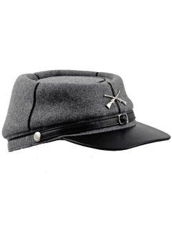 Sterkowski Genuine Leather Secession Kepi Civil War Cap