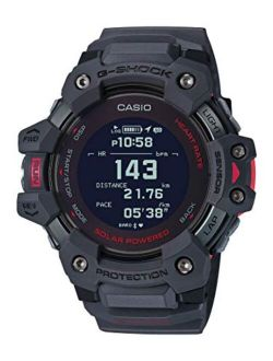 Men's G-shock Move, Gps + Heart Rate Running Watch, Quartz Solar Assisted Watch With Resin Strap, Gray, (model: Gbd-h1000-8cr)