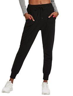 Women's Causal Drawstring Waist Yoga Active Workout Long Pant With Pocket