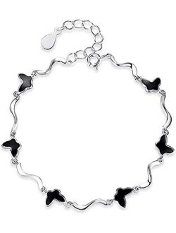 Stainless Steel Men Women Hollow Polished Heart Charm Chain Wrist Bracelet Gift