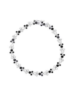 Mickey Mouse Jewelry For Women And Girls, Sterling Silver Cubic Zirconia Tennis Bracelet,