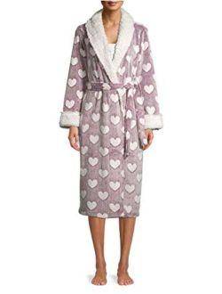 Hearts Wine Fusion Superminky Fleece Sleep Robe