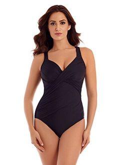 Women's Swimwear Rock Solid Revele Sweetheart Neckline Underwire Bra One Piece Swimsuit