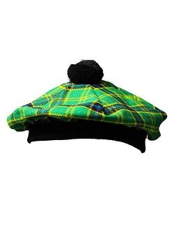 Scottish Traditional Tam o' Shanter Flat Bonnet Kilt Tammy Hat One Size in Many Tartans and Solid Colors Winter Hat