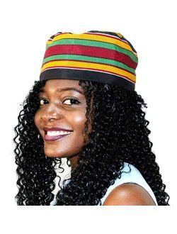 omaqa African Inspired Fashions Kente Kufi Kofi Hat Cap Style #7
