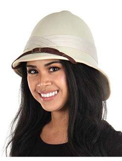 British Safari Jungle Pith Helmet for Adults Men and Women Tan
