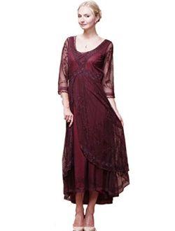 Nataya Womens Downton Abbey Tea Party Gown Antique Dress