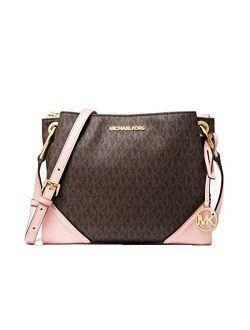 Ael Kors Nicole Large Logo Crossbody Bag