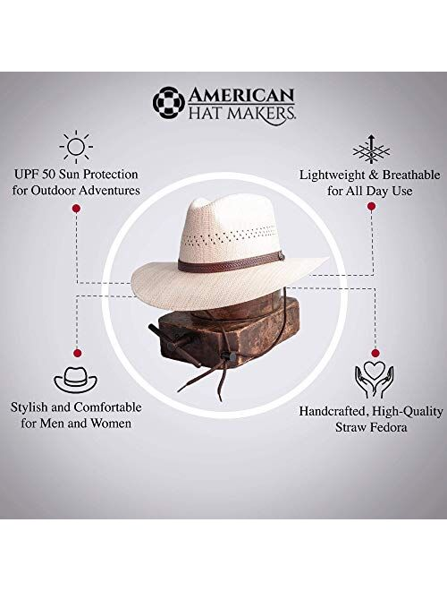 American Hat Makers Barcelona Straw Sun Hat — Handcrafted, Stylish