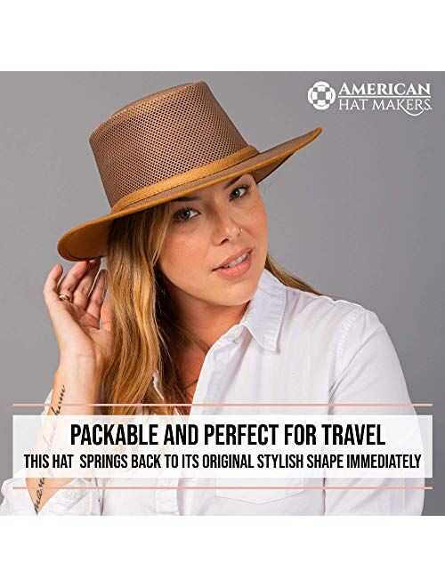 American Hat Makers Cabana Mesh Sun Hat for Men and Women — Handcrafted