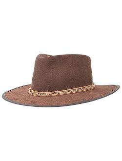 American Hat Makers Bushwick Felt Fedora Hat — Handcrafted, Lightweight, Durable