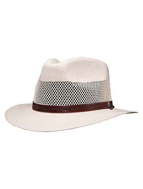 American Hat Makers Milan Straw Fedora — Lightweight, Breathable