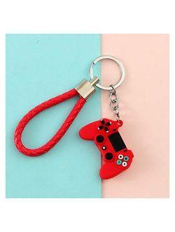 Jgzwlkj Cartoon Keychain Cute Cartoon Gamepad Keychain Letter Key Chain Game Handle Keyring Fashion Hot Key Chain Boy Men Gift (Color : B2)