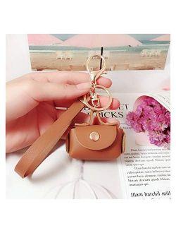 Jgzwlkj Keychain Cute Mini Bag Keychain Creative Keyring Women Car Purse Pendant Keychains Gift Small Handbag Coin Purses (Color : Pink)