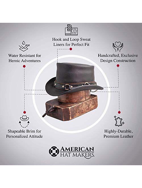 Voodoo Hatter El Dorado-SR2 Band Black or Brown Leather Top Hat