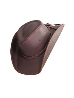 American Hat Makers Hollywood Cowboy Leather Hat — Handcrafted, Durable