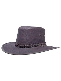 American Hat Makers Extreme Outback Vegan Hat — Waxed Cotton, Waterproof