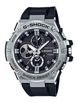 Men's 'g-steel By G-shock' Quartz Solar Bluetooth Connected Resin Dress Watch, Color: Black (model: Gst-b100-1acr)