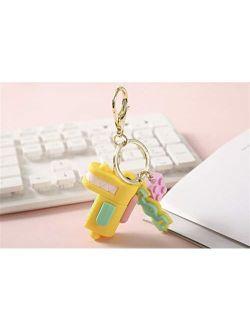 JZYZSNLB Keychain Cute Key Chain Women Girl Kawaii Kitten Car Keychain Fashion Keyring Animal Dating (Color : Gold)