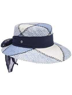 Straw Hat With Cloth Band Women - Made In Italy