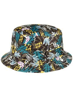Happy Leaves Bucket Cloth Hat Women/men - Made In Italy