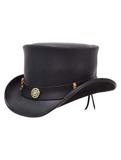 American Hat Makers El Dorado Top Hat with Bullet Band — Handcrafted, Genuine Leather