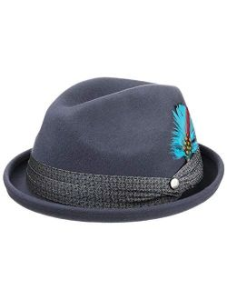 Mikano Player Hat Wool Felt Hat Women/men - Made In Italy