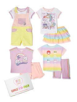 Girls Mix & Match Kid-pack Gift Set, 8-piece Outfit Set, Sizes 4-10
