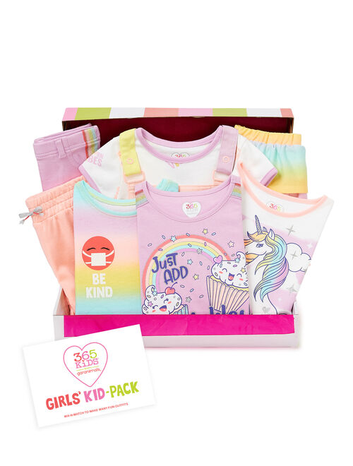 365 Kids From Garanimals Girls Mix & Match Kid-Pack Gift Set, 8-Piece Outfit Set, Sizes 4-10
