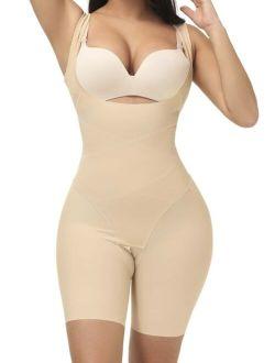 Crotchless Shapewear Romper Bodysuit
