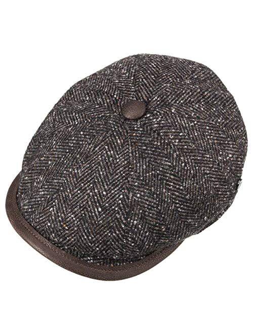 Lierys Cortino Herringbone Flat Cap Men - Made in Italy