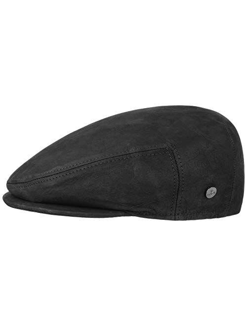 Lierys Leather Flat Cap Women/Men   Made in Italy