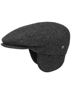 Teflon Flat Cap With Earflaps Women/men   Made In Italy