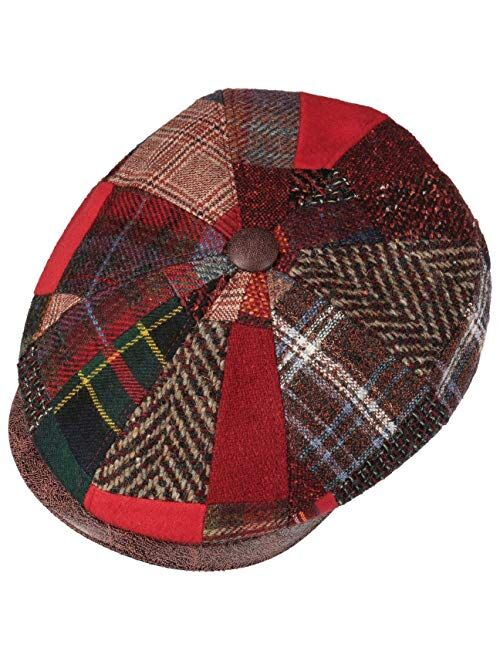 Lierys Carlento Patchwork Flat Cap Men - Made in Italy