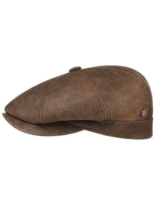 Lierys City Nappa Leather Flat Cap Women/Men - Made in Italy