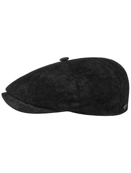 Lierys Carlsen Pigskin Flat Cap Men - Made in The EU