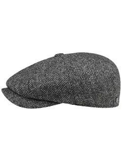 Carlsen Wool Herringbone Flat Cap Men - Made In The Eu
