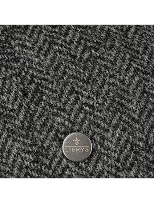 Lierys Carlsen Wool Herringbone Flat Cap Men - Made in The EU