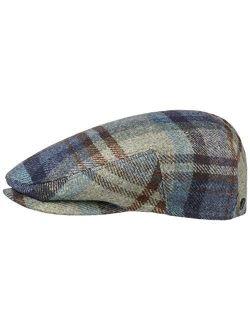 Glaston Wool Check Flat Cap Women/men - Made In The Eu