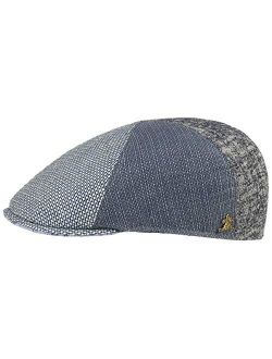Detroit Patchwork Flat Capgold Men - Made In Italy