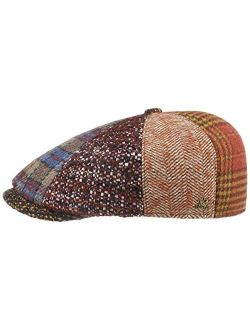Wool Patchwork Flat Capgold Men -