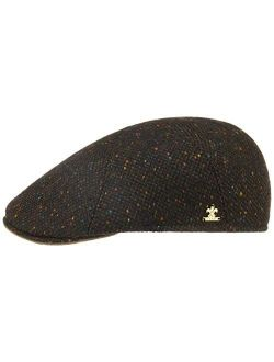 Donegal Tweed Flat Capgold Men - Made In Italy