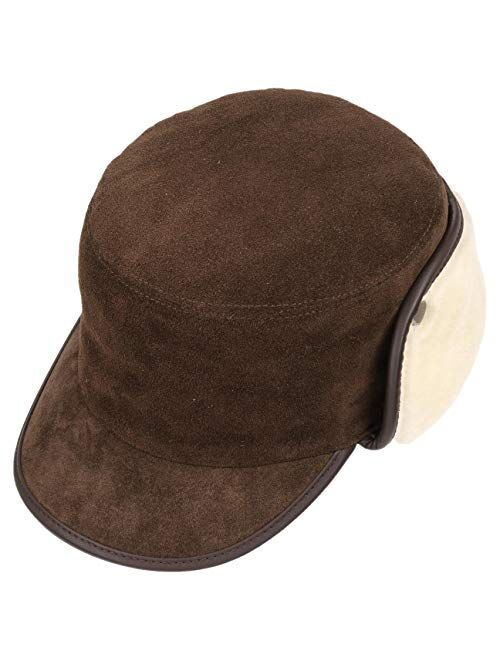Lierys Leather Army Cap with Ear Flaps Women/Men -