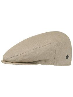Inglese Linen Flat Cap Men | Made In Italy