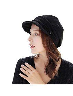 Women Newsboy Cap Cabbie Painter Gatsby Beret Visor Hat Autumn Winter