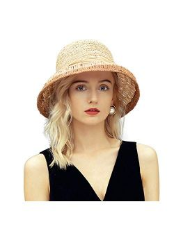 Women's Modern Company Hats Summer Beach Sydney Straw Wide Brim Sun Hat