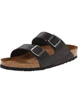 Unisex Arizona Black Oiled Leather Sandal