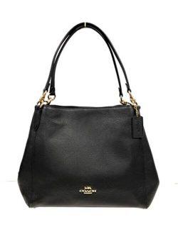 Pebble Leather Hallie Shoulder Bag